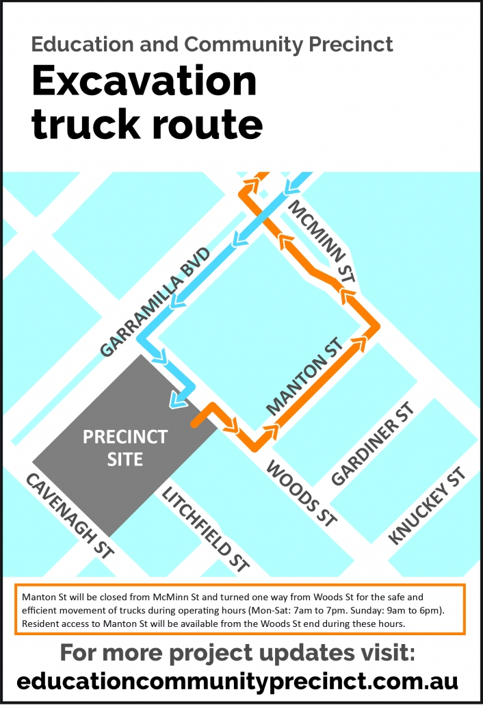 Excavation Truck Route